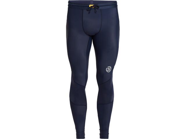 Skins Series-3 Long Tights Men, navy blue